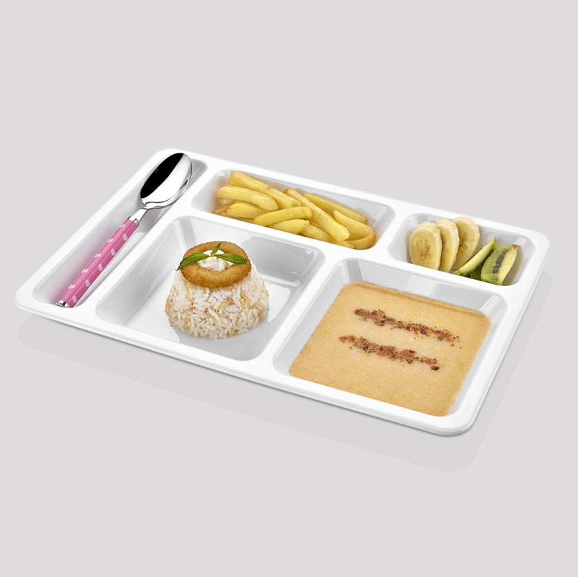 FOOD TRAYS WITH COMPARTMENTS